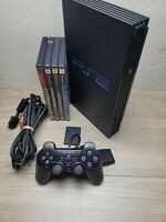 Sony PlayStation 2 PS2 Fat Black SCPH-50001 Console Tested & Working Bundle