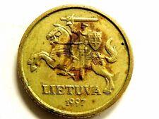 1997 Lithuania Ten (10) Centu Coin