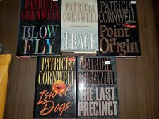 Lot of 5 Patricia Cornwell hardcovers, Isle of Dogs, Point of Origin, Trace