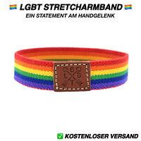 Armband Gay PRIDE LGBT Regenbogen Schmuck Herren Damen Magnet braun gold