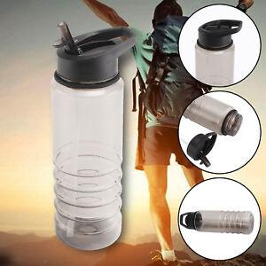 Sports Water Bottle 700ml Gym Travel Clear BPA Free Leakproof Drinking Bottles