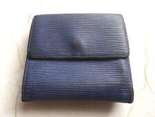 VUITTON   Vintage LOUIS blu a costine 6 slot per schede portafoglio e cambiare borsa