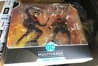McFarlane Toys DC Comics Battle Scene Night Wing vs Red Hood 7 inch Action...