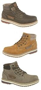 Mens Route 21 Original Imitation Nubuck Lace Up Ankle Work Hiking Boots UK 6-12