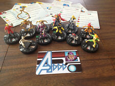 Heroclix 12 piece lot Age of Ultron 025 Machine Man ID Card 014 016 Spider Drone