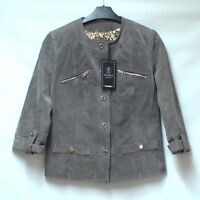 BNWT RINO & PELLE QVC Brown Real Leather Suede Jacket Blazer UK 10 RRP £160