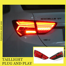 For Buick EXCELLE-XT LED Taillights Assembly 2015-2017 Dark/Red LED Rear Lamps