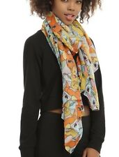 Pokemon Go Tossed Characters Viscose Sheer Oblong Scarf New With Tags!
