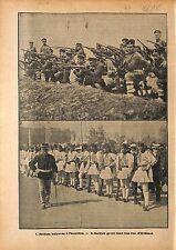 Soldiers of Bulgaria Maneuvers Balkans War /Soldats Grèce WWI 1915 ILLUSTRATION
