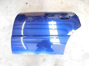 00-02 Audi B5 S4 Driver Side Rear Door Shell Santorin Blue LZ5K 8D0833051F