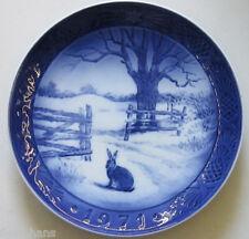 "Royal Copenhagen Christmas Plate 1971 ""Hare in Winter"" 1st Quality"