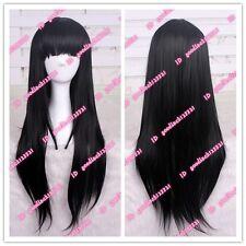 Akiyama Mio K-ON!/Akemi Homura Long Black Straight cosplay wig CC103+a wig cap