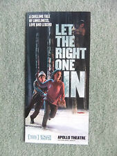 Flyer, Let the right one in, Apollo Theatre London