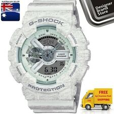 New Casio G-Shock Mens Watch GA-110HT-7A Ana Digi Heather White