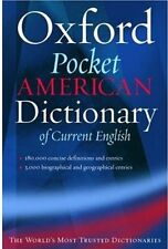 Oxford Pocket American Dictionary of Current Engli