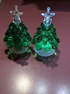 (1) Bath & Body Works Green Light Up Tree Candle Magnet  Lid Topper ~New~