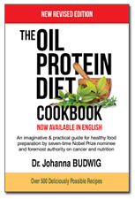 The Oil Protein Diet Cookbook by Dr. Budwig Revised Edition NEW