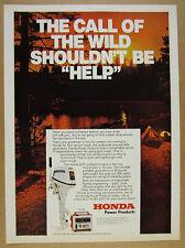 1977 Honda B-75 Outboard Motor & EM-400 Generator vintage print Ad