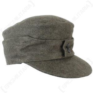 WW2 German Army M43 Field Cap - Repro Heer Ski Grey Wool Peaked Hat All Sizes