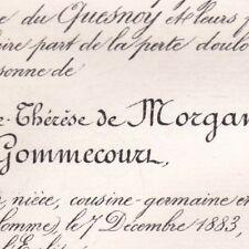 Léonide Marie-Thérèse De Morgan De Belloy Adalbert Lallart De Gommecourt 1883