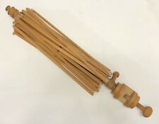 Vintage Wooden Umbrella-Style Large Yarn Spinner Winder w/ Clamp (Rf-Fr15)