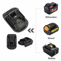For 20V DEWALT DCB200 Milwaukee M18 Convert to Makita 18V USB Battery Adapter
