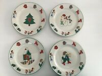 Ro Gregg Welcome Winter Salad Plates Set of 4
