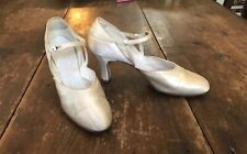 1930's Ivory Satin Wedding Dance Shoes Flapper Shoes 6 N