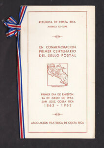 Costa Rica 1963 Stamps Presentation Pack