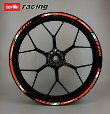 Aprilia RS motorcycle reflective wheel decals stickers rim stripes RSV Tuono V4