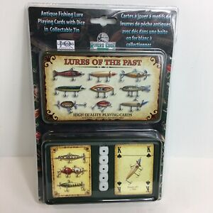Rivers Edge Playing Cards And Dice Lures Of The Past Antique Lure Pictures New