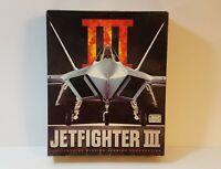Jetfighter III CD-Rom ms-dos Classic Flight Simulator Game w/ Manual PC BIG BOX