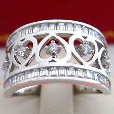 Cubic Zirconia Band White Gold Fine Rings