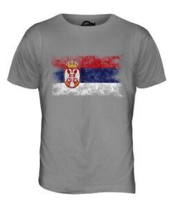 SERBIA DISTRESSED FLAG MENS T-SHIRT TOP SRBIJA SERBIAN ?????? SHIRT FOOTBALL