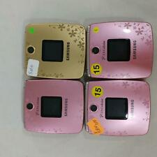 LOT Of 4 Samsung SCH-U440 Flip phone pink and gold Unknown carrier BULK 508