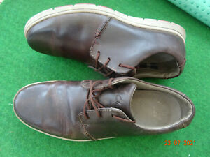 CLARKS MENS BROWN LEATHER SHOES UK SIZE 11 G