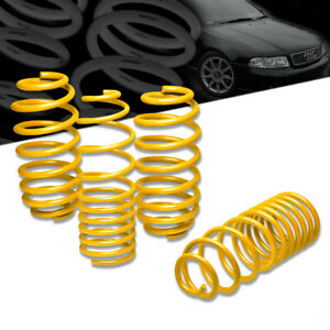 "AUDI A4/B5 1.5""DROP SUSPENSION YELLOW LOWERING SPRING/SRPINGS 320 FRONT 290 REAR"