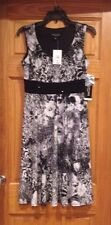 Petite Black and White Dress Sz 6