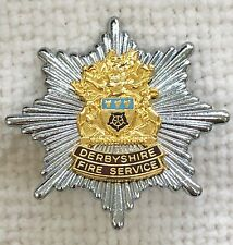 Derbyshire Fire Service - Fire Brigade cap badge.