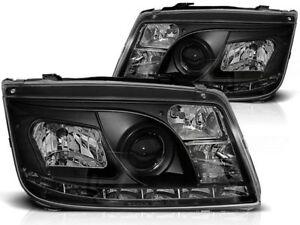 LED HEADLIGHTS LPVWA2 VW BORA 1998 1999 2000 2001 2002 2003 2004 2005 BLACK