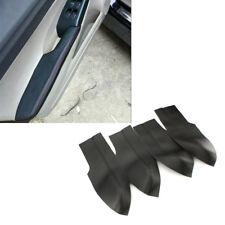 Black 4PCS Leather Door Panels Armrest Covers For Honda Civic Sedan 06-11