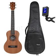 26 Zoll Tenor Ukulele Uke Hawaii Gitarre Sapele 18 Bund mit Tasche und Tuner