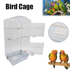"""2 Door Large 37"""" Bird Parrot Cage Budgie Parakeet Finch Canary Birds House w/Cup"""