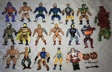 He-Man Masters of The Universe Action Figures Lot. 18 from 1980s Vintage He-Man