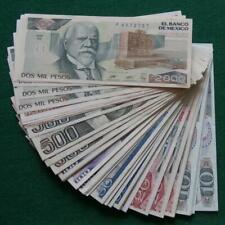 Lot 90 Notes Banco de Mexico 10,20,50.100,500,1000 & 2000 Au-Unc