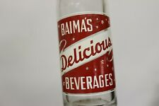 Biama's Beverages Soda Bottle, Squirt Bottling Hurley, Wisconsin 1961