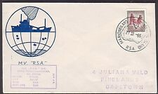 SOUTH AFRICA ANTARCTIC 1966 ship cover ex MARION ISLAND....................35514