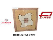 Rosone decoro Mirage ceramica mosaico su rete prima scelta levigato 30x30 B117