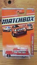 MATCHBOX 2010 1-100 '63 CADILLAC AMBULANCE - RED & WHITE 55/100 (A+/A)