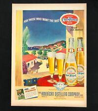 1943 Carta Blanca Beer Advertisement Imported Mexico Vintage Print Ad